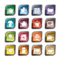 Houseware icons a collection of different kinds of it contains hi res jpg pdf and illustrator files Royalty Free Stock Photo