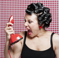 Housewife gossip Royalty Free Stock Images