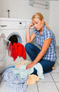 Housewife washing Stock Photography