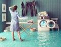 Housework dreams. Royalty Free Stock Photo