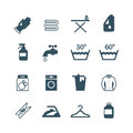 Housework and laundry vector icon