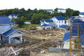 Housing Construction Site, Brunei Stock Image