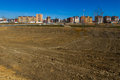 Housing estate under construction cityscape polygon or development recently built urbanized with empty lots but not built Royalty Free Stock Photos