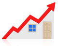 Housing market growth d generated picture of a chart Royalty Free Stock Photo