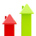Housing prices conception as bar graph Royalty Free Stock Photo