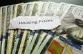 Housing prices Royalty Free Stock Photo