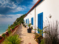 Housing for typical Portuguese Algarve coast Royalty Free Stock Photo
