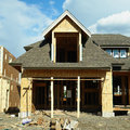 Housing unfinished new house during the construction stage Stock Photography