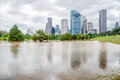 Houston Downtown Flood Royalty Free Stock Photo