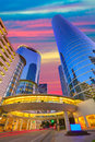 Houston Downtown sunset skyscrapers Texas Royalty Free Stock Photo