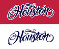 Houston lettering in tattoo style
