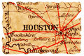 Houston old map Stock Photo