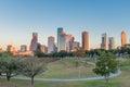 Houston, Texas downtown at sunset. Royalty Free Stock Photo