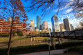 Houston Texas Skyline with modern skyscrapers and blue sky view Royalty Free Stock Photo