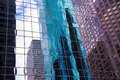 Houston texas urban city with modern mirror skyscapers crop detail Stock Photography