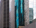 Houston texas urban city with modern mirror skyscapers crop detail Stock Photos