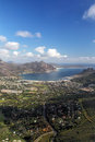 Hout bay aerial view of suburb of cape town south africa and view over the cape peninsula Stock Photo