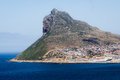 Hout bay harbor view hilltop near western cape south africa Royalty Free Stock Images