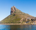 Hout bay promontory rocky outcrop at in south africa near cape town Stock Photo
