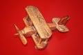 Houten toy plane Royalty-vrije Stock Afbeelding