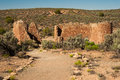 Hovenweep castle view of from little ruin trail in national monument Stock Photography