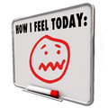 How I Feel Today Stressed Overworked Frustrated Sad Face Royalty Free Stock Photo
