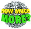 How Much More Question Numbers Ball Additional Want Need Royalty Free Stock Photo