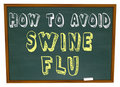 How to Avoid Swine Flu - Words on Chalkboard Royalty Free Stock Images