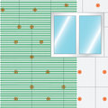 How to insulate a wall mesh over styrofoam vector Stock Images