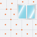 How to insulate a wall styrofoam on the wall vector Stock Images
