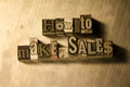 How to make sales - Metal letterpress lettering sign