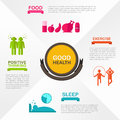 How to obtain good health and welfare infographic template design create by vector Royalty Free Stock Image