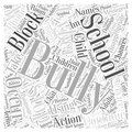 How to Stop Cyber Bullying word cloud concept word cloud concept vector background Royalty Free Stock Photo