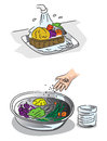 How to wash fresh vegetables