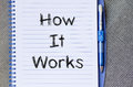 How it works concept on notebook