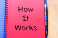 How it works concept on notebook Royalty Free Stock Photo