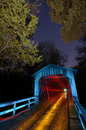 Bridge Light Painted Royalty Free Stock Photo