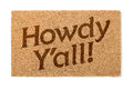 Howdy Yall Welcome Mat On White Royalty Free Stock Photo