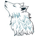 Howling Wolf Head Royalty Free Stock Photo