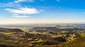 Hoya huesca view de from the sierra de loarre aragon spain Stock Photos