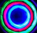 Hoyo de luz light hole in bulb mode Stock Photos