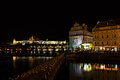 Hradcana Night Prag - nocni Praha Royalty Free Stock Photos