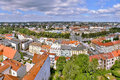 2015-07-10 - Hradec Kralove, Czech republic - Hradec Kralove city from white tower in summer Royalty Free Stock Photo
