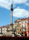 Hradec Krolovy, Czech Rep: Velke namesti Square Stock Photos