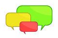 Hree color speech bubbles d render of three Royalty Free Stock Photo