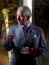 Hrh prince charles holds an event at his welsh estate llwynywermod near llandovery Royalty Free Stock Photo