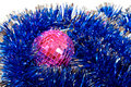 Hristmas card with pink mirror sphere Royalty Free Stock Photo