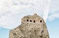 Hrusov castle ruins, Slovakia, detail wall scene