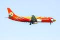 Hs ddk boeing of nokair airline chiangmai thailand november low cost landing to chiangmai airport from bangkok don muang Stock Photos