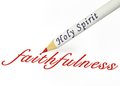 Hs faithfulness fruit of the spirit is Stock Photos